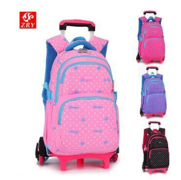 Children School Backpack With Wheels Kids Wheeled Backpacks Children Rolling Bag For Girls Travel Trolley Backpack Bag For Kids