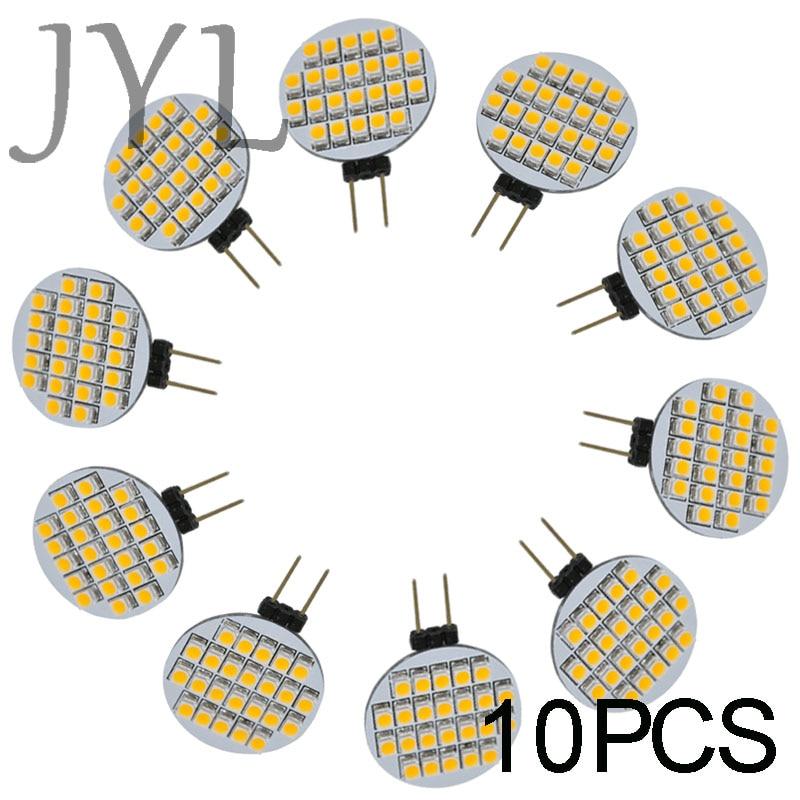 JYL High Power 10pcs 24 LED 3528 SMD G4 LED Lamp Spot Light Bulbs Lighting DC/AC 12V 1W 156-168LM Room Cabinet Marine Camper