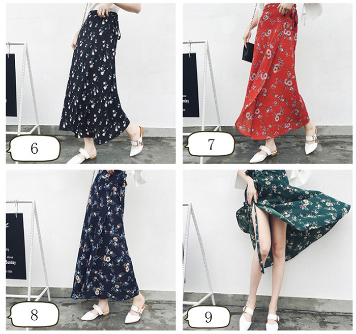 Boho Asymmetrical Chiffon Maxi Long Skirts 16