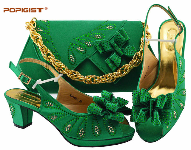 Pink Color Women Italian Shoes and Bags for Women PU Leather Nigerian Wedding Shoes and Bag Set African Matching Shoes and Bags