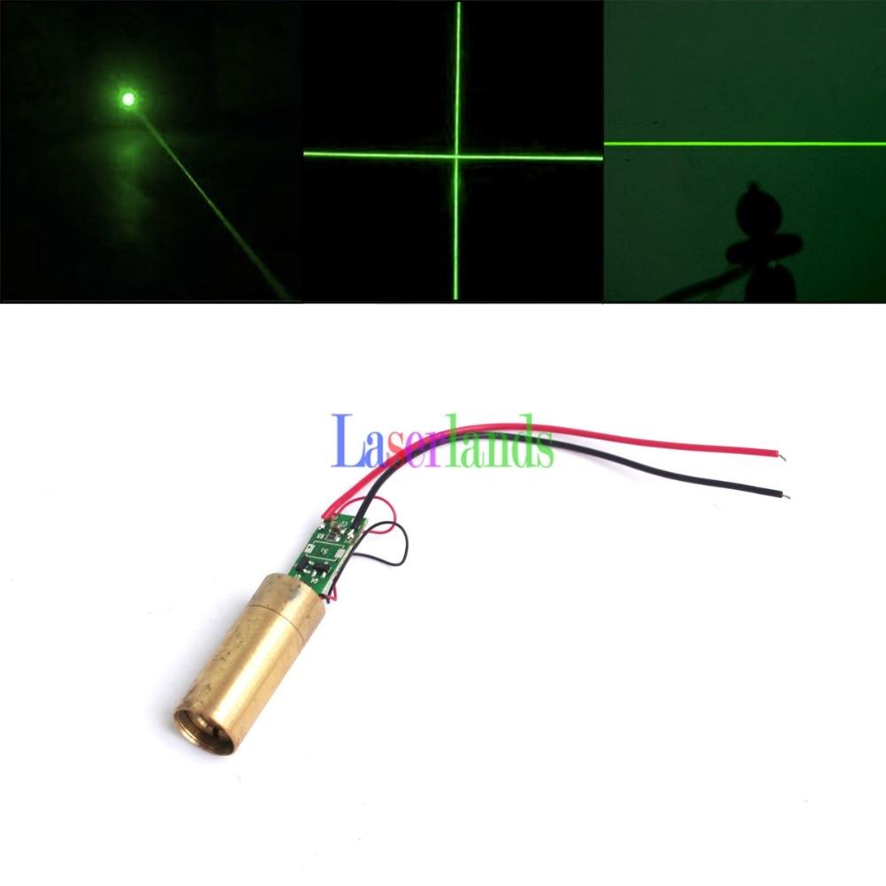 Dia.12mm 532nm Green Dot Line Cross 10mW 20mW 30mW 50mW 100mW 150-200mW Laser Module With Glass Lens