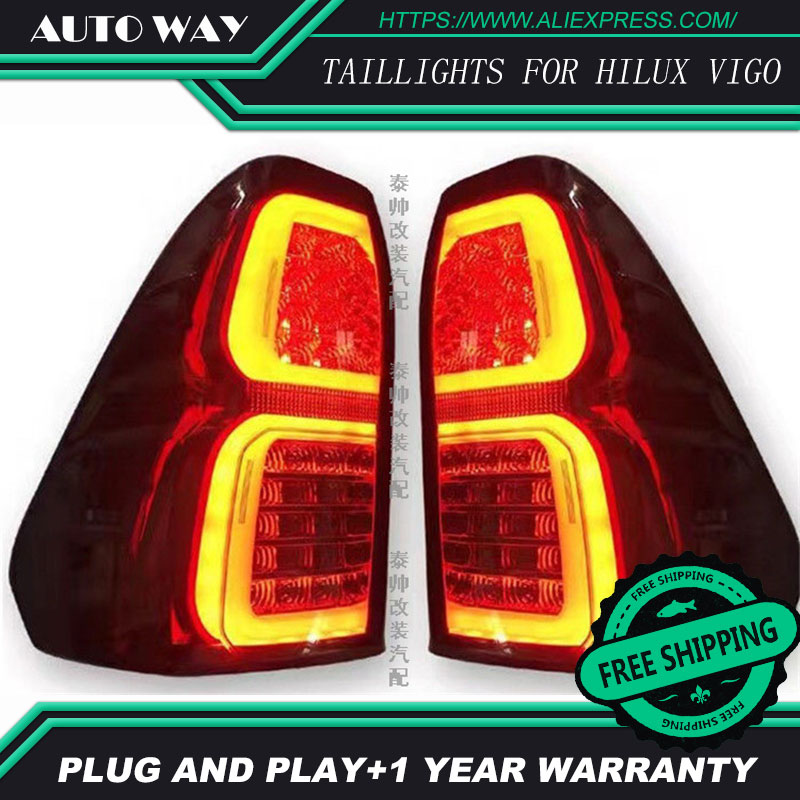 Free shipping Tail light LED rear lights parking taillights LED taillight case for Toyota Hilux vigo 2016 Car styling 2 pc free shipping rear sticker hilux for toyota hilux vigo revo