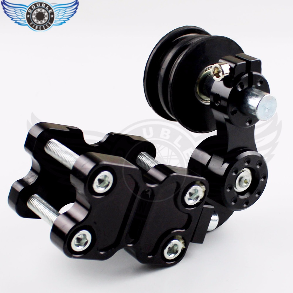 Universal Motorcycle Adjustable Gold Chain Tensioner Bolt on Roller Chopper ATV Dirt Bike modified chain automatic