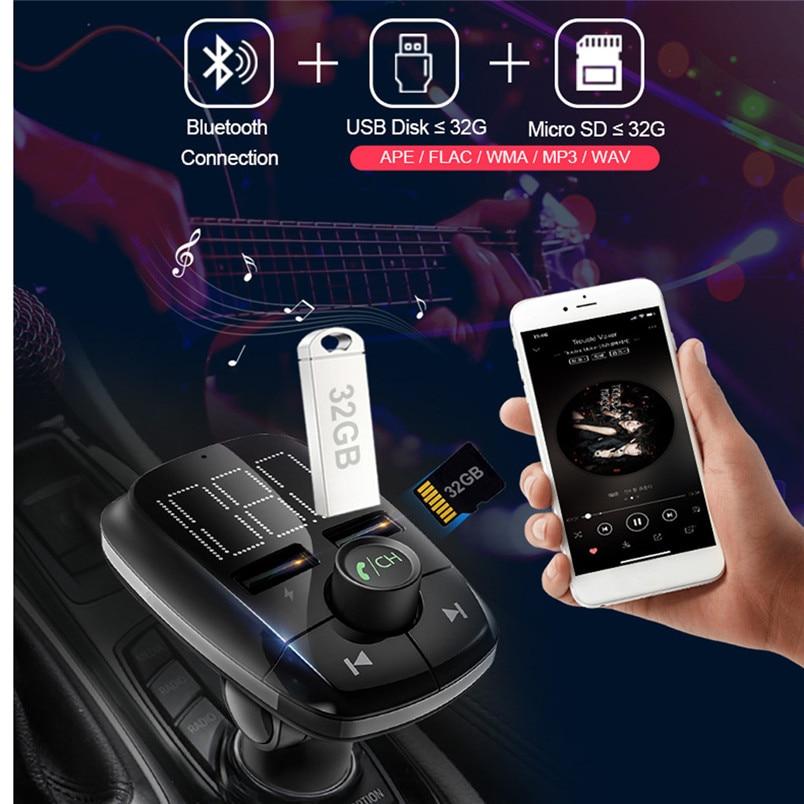 Wireless Bluetooth FM Transmitter MP3 Player Fast Charger Radio Adapter Car Kit Bluetooth V4.2 Car MP3 Player Daul USB 40NT15 (6)