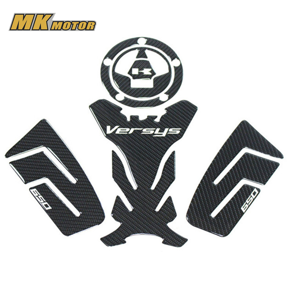! Carbon 3D ADESIVI MOTO Sticker Decal Emblem Protection Tank Pad Gas Cap Fit KAWASAKI versys 650 kodaskin carbon 3d adesivi sticker decal emblem protection tank pad gas cap z1000 2012 2015
