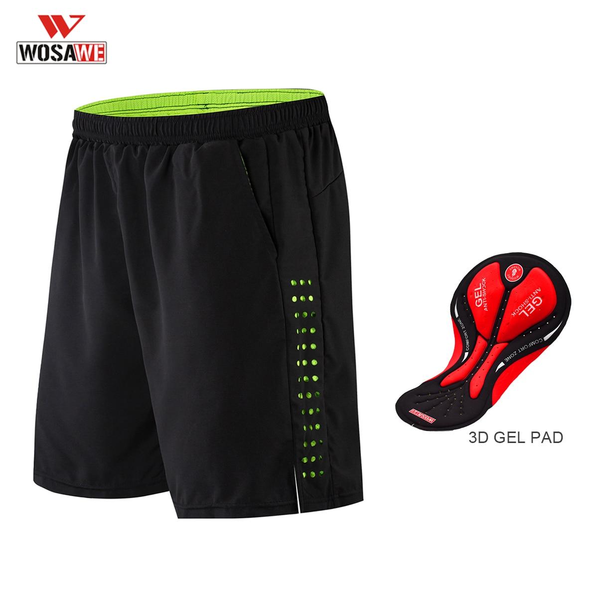 WOSAWE DH Shorts Pants Spodenki Bermuda Men Waterproof Shorts 3D GEL Silicone Pad For ATV Bici DH MX MTB Broek Shorts Bike Short
