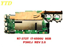 Original for ACER R7-372T laptop motherboard R7-372T I7-6500U 8GB P3HCJ REV 2.0 tested good free shipping