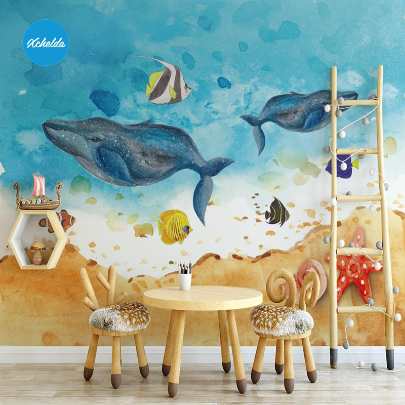 XCHELDA Custom 3D Wallpaper Design Painting Sea L Photo Kitchen Bedroom Living Room Wall Murals Papel De Parede Para Quarto custom 3d wall murals wallpaper luxury silk diamond home decoration wall art mural painting living room bedroom papel de parede
