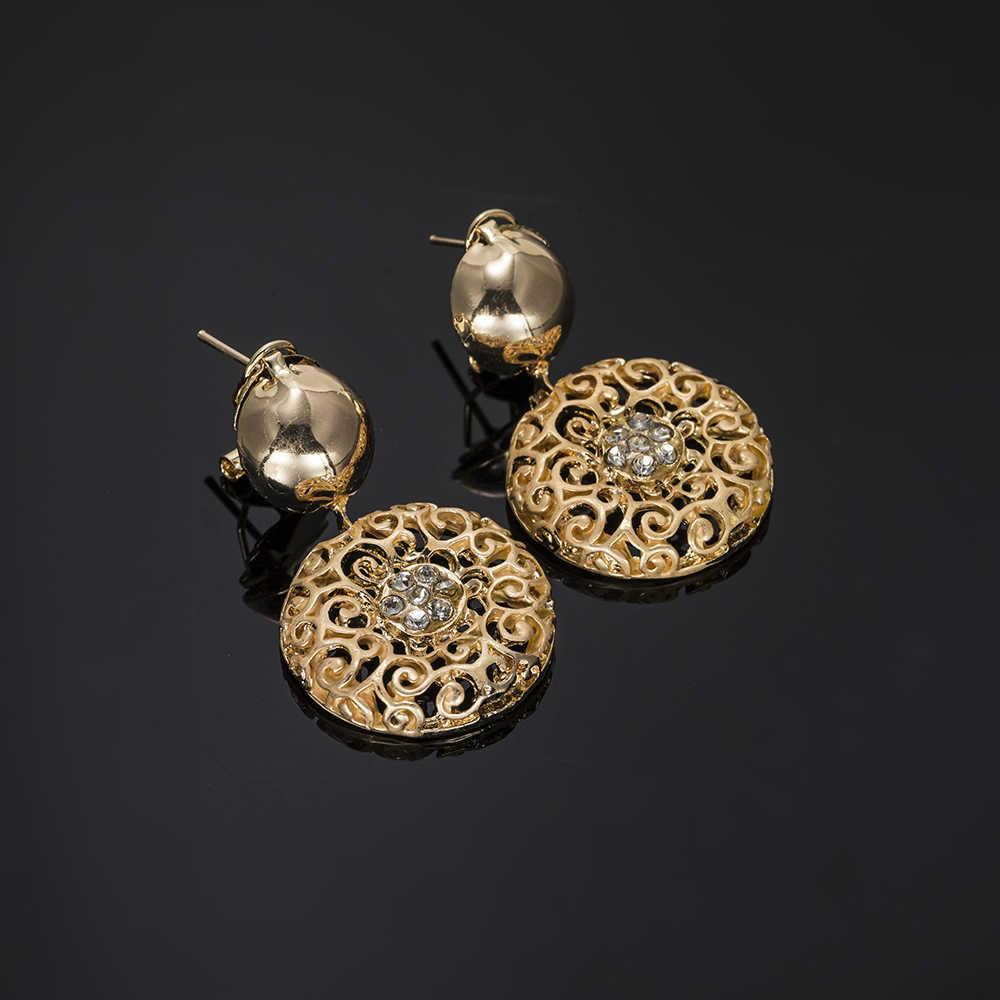 MUKUN אופנה תלבושות תכשיטי ניגריה נשים גדול שרשרת צמיד עגילי טבעות תכשיטים 2018 דובאי זהב תכשיטי סטים