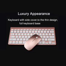 Ultra-Thin Wireless Keyboard And Mouse Combo With USB Receiver
