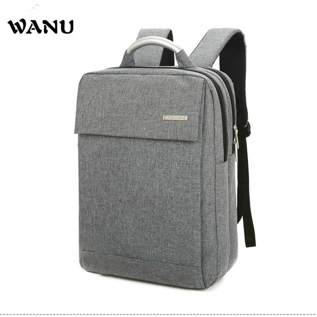 5069598fb21a WANU Fashion Business Computer Backpacks 14 15.6 Inch Male and Female  College Students Leisure Bags for Man Women Travel School