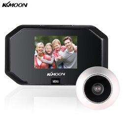 KKmoon 3-дюймовый ЖК-дисплей Смарт Цифровой дверной глазок с камерой 1.0MP 100 градусов угол обзора дверного глазка Запись Видео дверной глазок две...