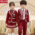 Parque do jardim de infância escola uniformes escolares terno outono e roupas de inverno vento Britânico serviço de roupas novas para crianças