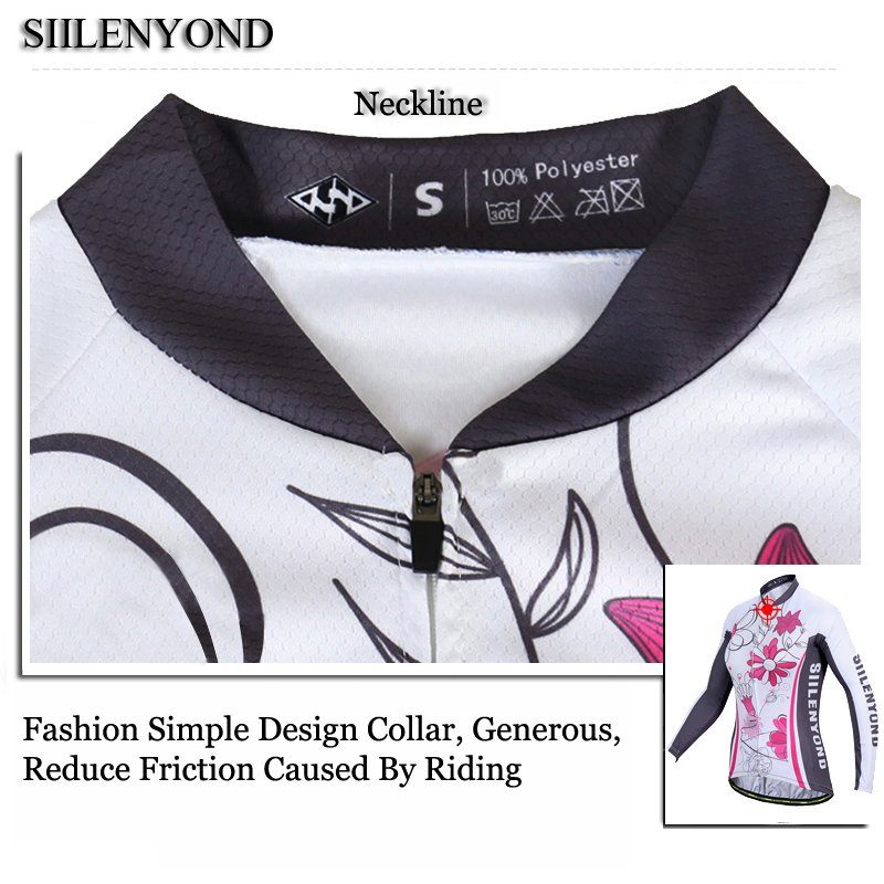 Siilenyond 2019 Winter MTB Bike Cycling Clothing Keep Warm Cycling Jersey Mountain Bicycle Cycling Clothes For Women 12