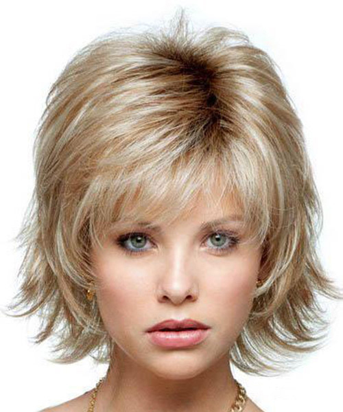 Addos Fashion Short Women Wigs Wavy Synthetic Hair Wig