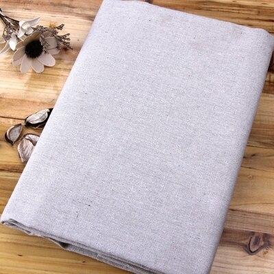 1 Meter Plain Solid Katoen Linnen Achtergrond Stof Bekleding Naaien Tafelkleed Ambachten Gordijn Materiaal