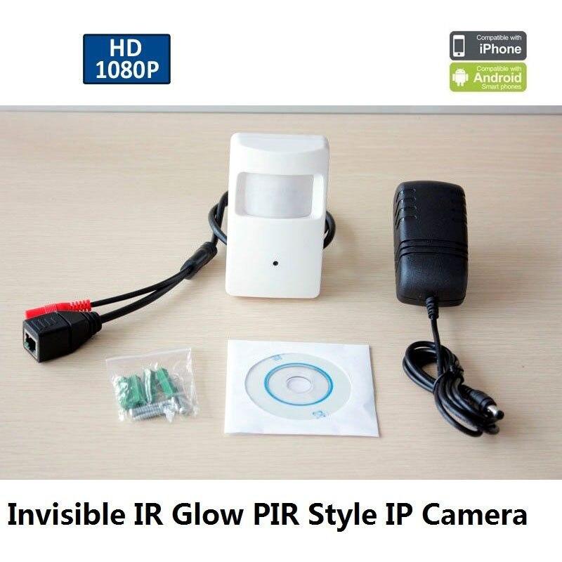 Мини 2MP 1080 P IP (POE опционально) детектор движения PIR HD Камера ONVIF 12V1A Мощность Suply для видеонаблюдения p2p nvr системы