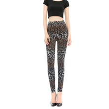 Leggings Hot Sell Womens Sexy Leopard Print Fitness Brown Gray Push Up Pants Trousers Stretch Plus Size Workout Legins