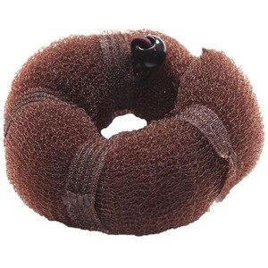 Image 5 - 2 pcs 여성 헤어 스타일링 전 매직 스폰지 롤빵 메이커 도넛 링 셰이퍼 폼 braider 도구 여성용 diy 헤어 액세서리