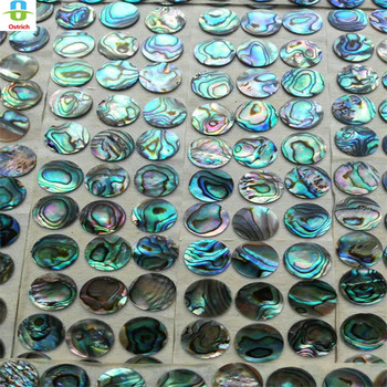 100 PCS trumpet finger button pearl set real abalone shell flashing