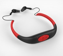 Deporte Reproductor de música 8 GB de memoria bajo el agua radio FM cabeza con Reproductores de MP3 de natación Buceo surf deportes Súper impermeable IPX8