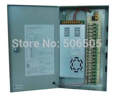 18 channel 360W 12V 30A Switching Power Supply BOX 360w 12v 30a switching power supply industrial power supply safety equipment power supply