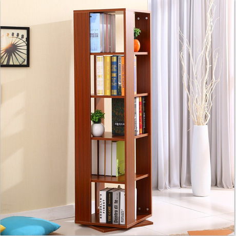 Bookcases Living Room Furniture Home Solid Wood Bookshelf 360 Degree Rotate Cabinet Display Book Stand 123 40 Cm In From