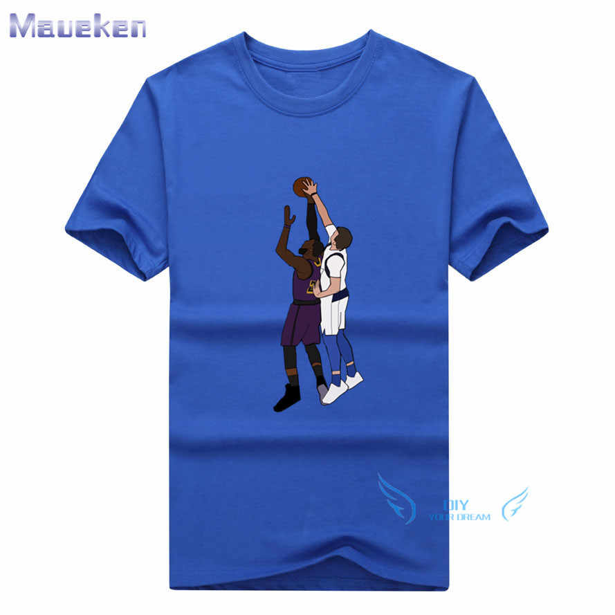 ... 2019 Summer Luka Doncic Blocks Lebron James 100% cotton funny t shirt  for fans gift ... 23693f27d