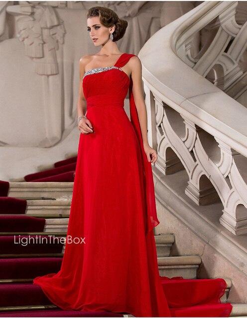 free shipping 2018 new style gelinlik hot crystal vestido de festa longo one  shoulder Formal gown 6ff9f4844612