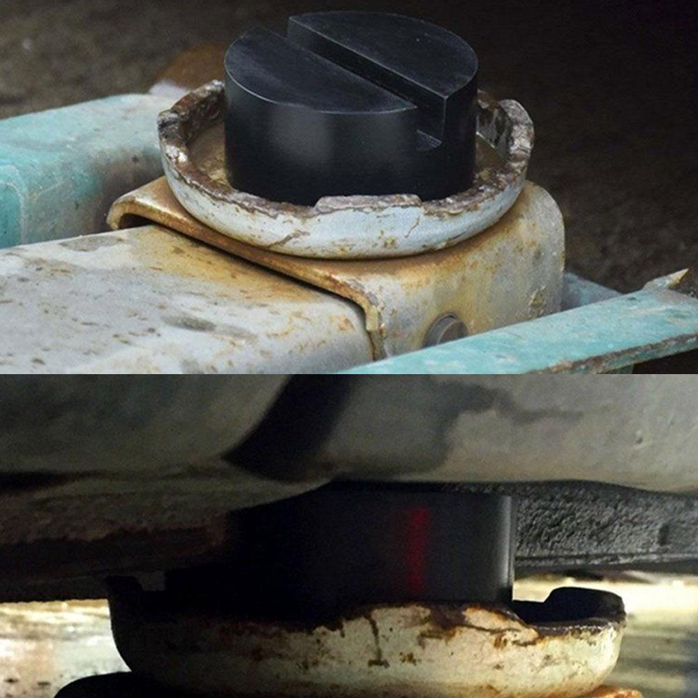 Vehemo Универсальный черный щелевые резиновый диск Pad автомобилей автомобиля Рамки Rail домкрат гвардии адаптер, комплект для ремонта Jack Интимн...