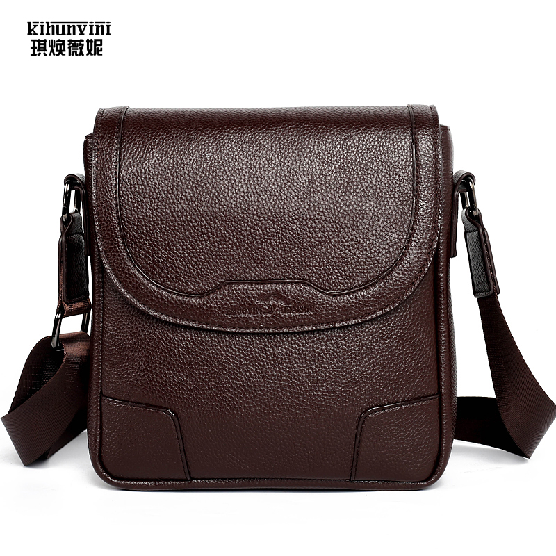 New Fashion Business Leather Men Messenger Bags Promotional Luxury Small Crossbody Shoulder Bag Mini Casual Man Bag Male Bolsas