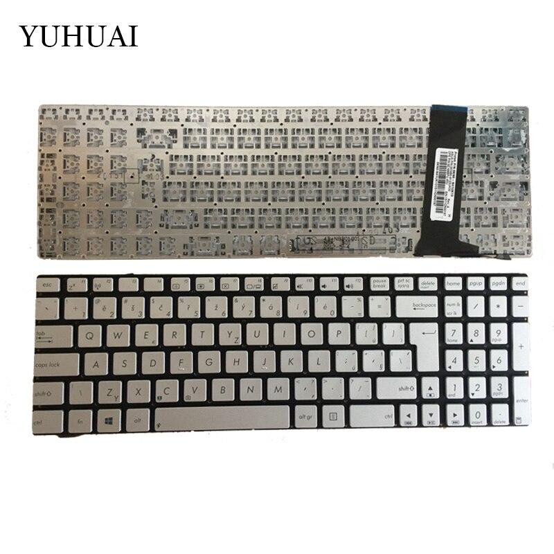 NEW Czech Laptop Keyboard for ASUS N56 N56V N76 N76V N76VB N76VJ N76VM N76VZ U500VZ N56VV N56VZ U500VZ U500 U500V CZ Silver