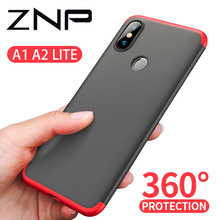 ZNP 360 градусов, ПК матовый защитный чехол для телефона для Xiaomi Mi A1 A2 Lite Полное покрытие противоударный корпус для Xiaomi Mi A2 Lite A1 чехол