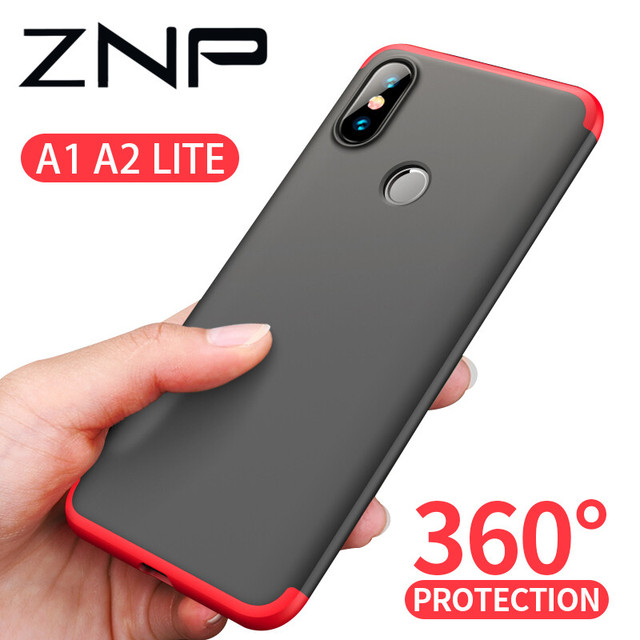outlet store bbe63 eed4f US $2.64 38% OFF|ZNP 360 Degree PC Matte Protective Phone Case For Xiaomi  Mi A1 A2 Lite Full Cover Shockproof Shell For Xiaomi Mi A2 Lite A1 Case-in  ...