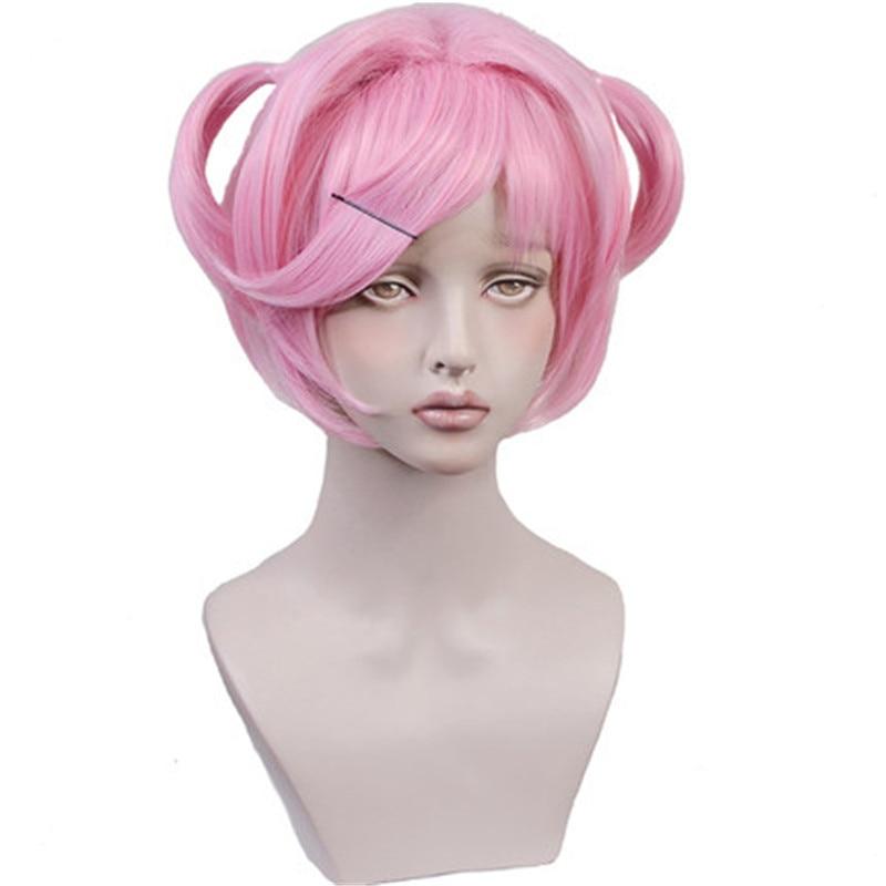 ¡Juego DLC Doki Literature Club! Traje de Cosplay de pelo de Natsuki Pelo  Corto 8ffbc6e28087