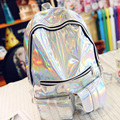 Mochila Masculina backpack Women Silver Hologram Laser rucksacks men Bag Holographic Backpack Girls Multicolor bag pack