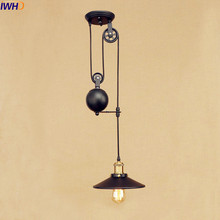 IWHD Vintage Pulley Pendant Lights American Style Loft Industrial Pendant Lighting Fixture Vintage Lamp Luminaire Lamparas vintage pendant lights loft lamparas colgantes american retro lamp abajur industrial lighting for dinning room cafe luminaire