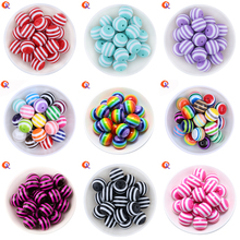 Fashion Beaded Jewelry 6MM To 20MM Colorful Resin Strips Beads For Kids Chunky Necklace