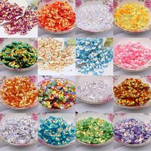 360Pcs 8mm Cup Plum Shape Sequin For Craft 3D Blossom Flower Sequins Paillettes Wedding Decro Women Dress DIY Sewing Accessories(China)