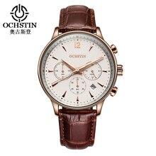 2016 Mens Business Watches Top Brand Luxury Waterproof Chronograph Watch Man Leather Sport Quartz Wrist Watch Men Clock Male