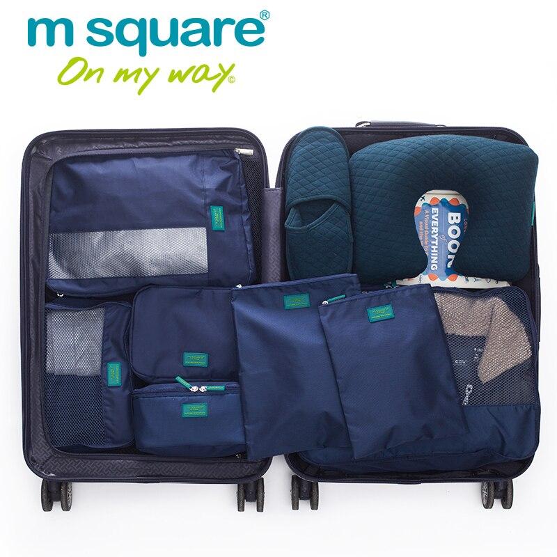 M Kvadrat 7st Sätta Män Resväska Kvinnor Förpackning Kubbar - Väskor för bagage och resor - Foto 2