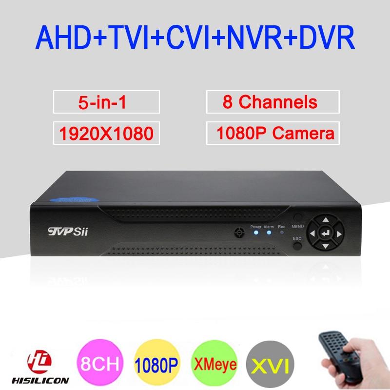 Hi3521A XMeye 8 Channel 8CH 1080P Full HD Surveillance Video Recorder 5 in 1 Hybrid Wifi