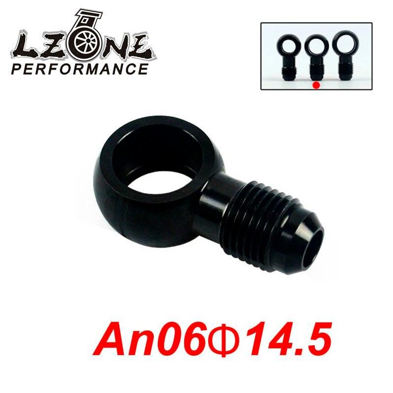LZONE-boulon d'adaptateur banjo | En aluminium  AN6 AN-6-6 raccord de frein de an à 14.5mm  noir