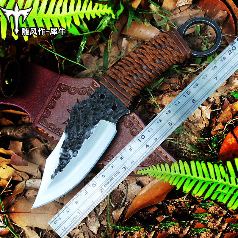 PSRK Outdoor Tactical Fixed Knives High-carbon steel  pattern Knife Handmade camping Hunting Knife EDC tools Free shipping bestlead chinese peony pattern zirconia ceramics 4 6 knife chopping knife peeler holder