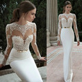 Custom Mermaid Prom Dresses Sexy High-Necked Long-Sleeved Applique Prom Gown Backless Evening Dress For Graduation