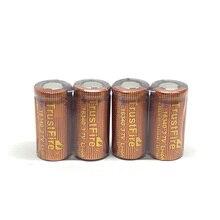 4pcs/lot Trustfire IMR 16340 3.7V 6500mAh real capacity 20A Li-ion Rechargeable Lithium Battery for E-cigarette Flashlights цена и фото