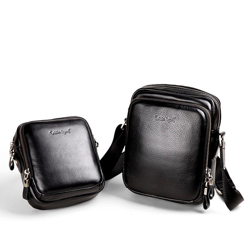 Cobbler Legend Genuine Leather Bag Men Bags Messenger Black Men's Travel Bag Crossbody Bags Leather Shoulder Handbags Waist Pack