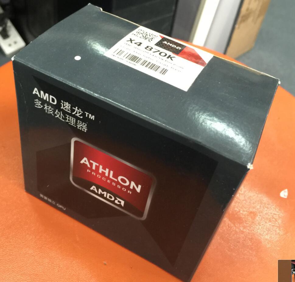AMD Athlon X4 870K X870K Boxed with radiator FM2 Quad Core CPU 100 working properly Desktop