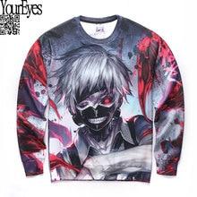 Men Autumn Long Sleeve Creative 3D Tokyo Ghoul Sweatshirt Anime Cartoon Sasuke Ninja Print Sweatshirts Fashion Tops Design