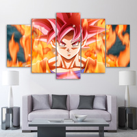 5 Piece Canvas Wall Art Goku Dragon Ball Poster HD Printed Super Hero Canvas Painting Pictures